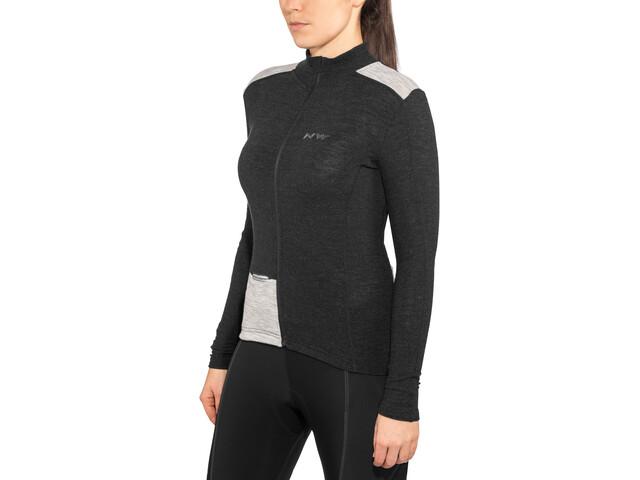 Northwave Allure Wool Langærmet cykeltrøje Damer sort | Trøjer